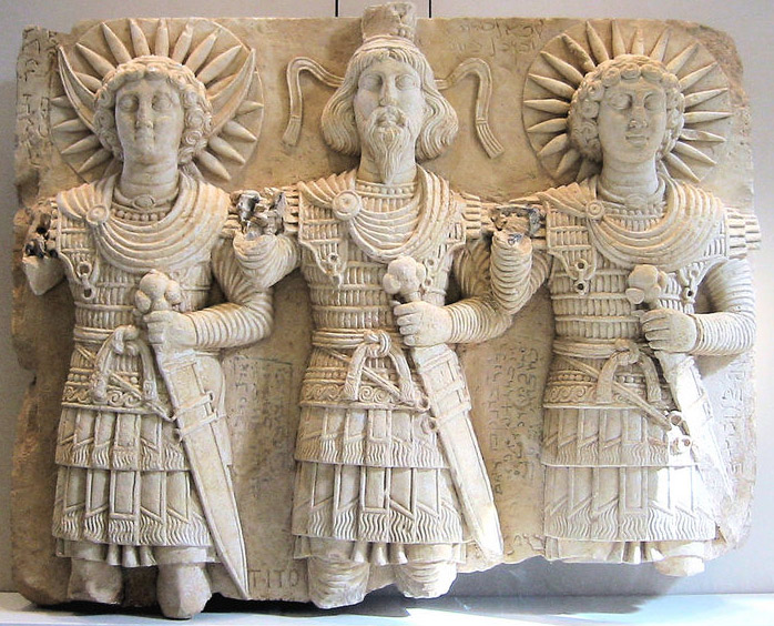 Aglibol, Baalshamin, and Malakbel (from Palmyra in the Louvre)