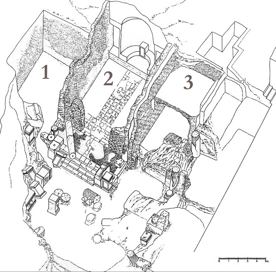 Drawing of the Augustales' building at Misenum (adapted by Harland from D'Arms 2000, plate IX).