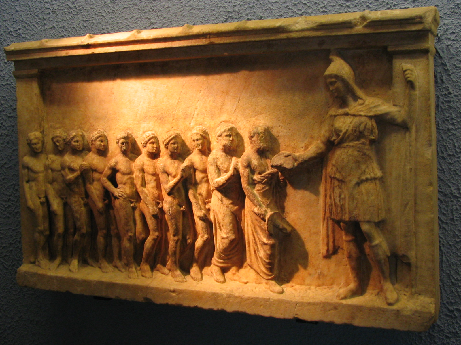 The goddess Bendis and worshippers (from Piraeus)