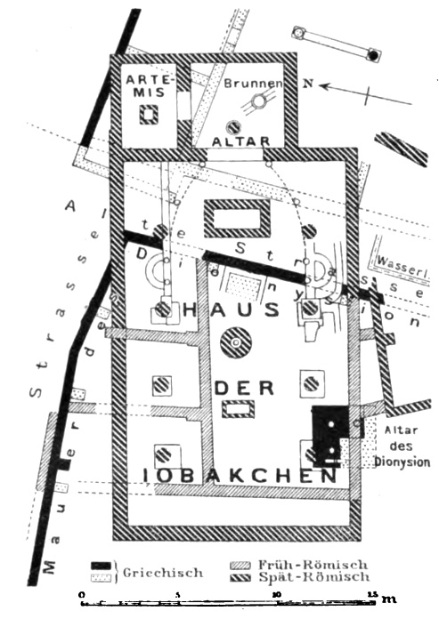Building plan of the Iobacchoi. Judeich 1905, 261. Public domain.