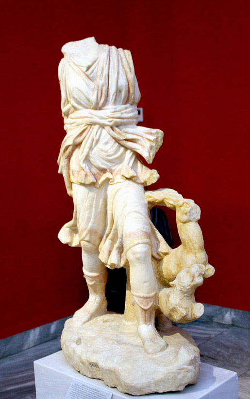 Statuette of Artemis found within the Baccheion.Photo by Giovanni Dall'Orto. Used under a Creative Commons license.