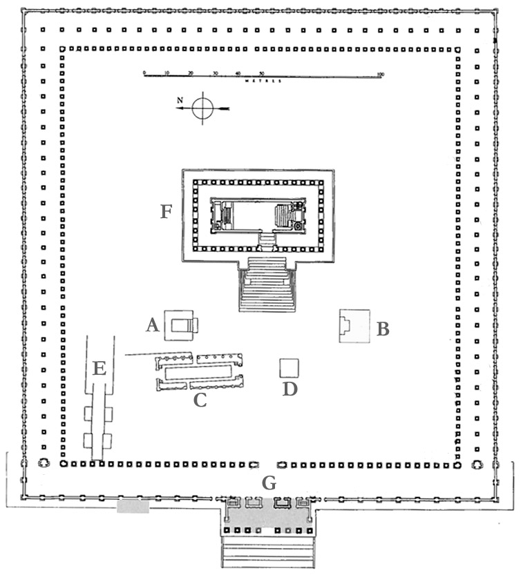 Plan of the sanctuary of Bel at Palmyra.Adapted from IPalmyra, p. 12.