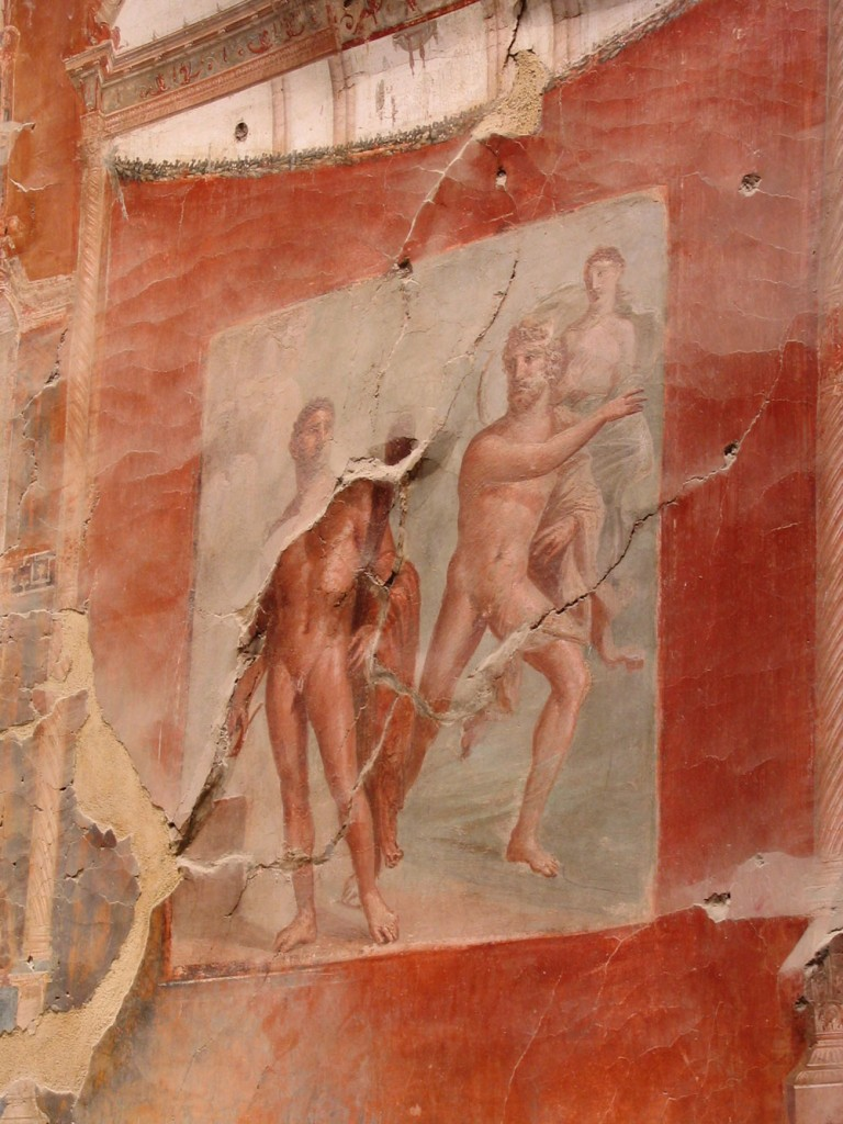 Panel from the fresco at meeting place of the Augustales at Herculaneum.Photo by Harland copyright 2017.