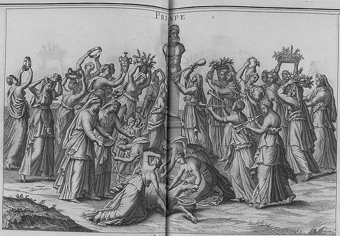 IMT 17: Boissard's drawing of Priapos worship. From Montfaucon, plate 181.