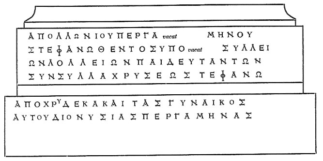 Facsimile of IG XII,1 918 from Lindos (from IG).