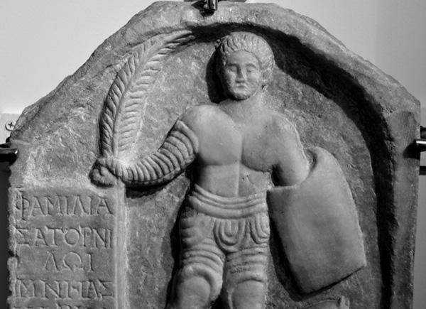 Grave of the gladiator Saturninus (from Smyrna)