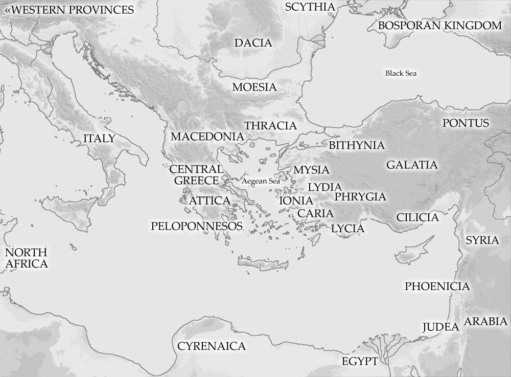 Ancient Mediterranean Map Map of the Ancient Mediterranean Area